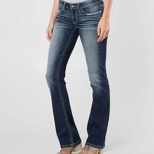 BKE Stella Faded Wash Boot Cut Jeans Long